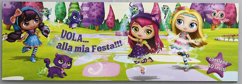 163046 Inviti Compleanno The Cartoon World Blocchetto Da 30
