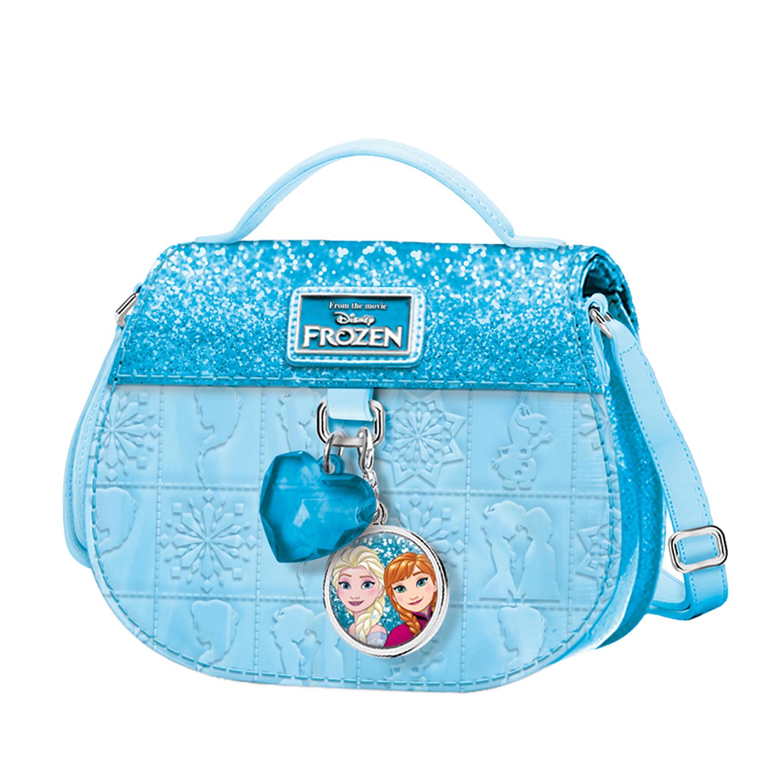 a42ede94d4 Borsa Borsetta Da Bambina con Tracolla DISNEY Frozen - Effetto Glitter -  Celeste