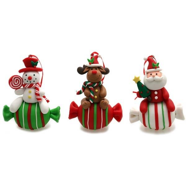 Decorazioni Natalizie Caramelle.Bl 2228 Natale The Cartoon World Decorazione Natalizia Per Albero Di Natale In Fimo Caramella