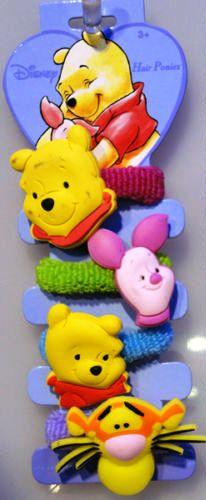 Disney FERMACAPELLI FERMATRECCINE Elastici 4 Pezzi Winnie The Pooh