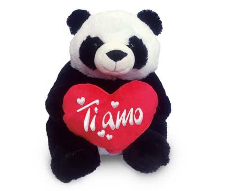 6980 San Valentino The Cartoon World Peluche Panda San