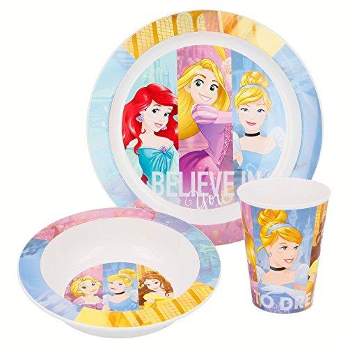 Set di piatti con 4 principesse Disney Disney