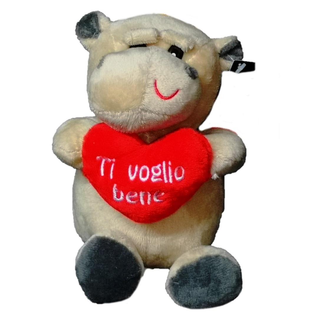 7140a San Valentino The Cartoon World Peluche Ippopotamo San