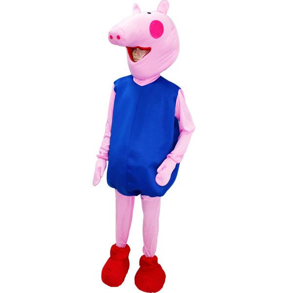 migliore vendita a buon mercato sconto speciale di Dettagli su MASCOTTE Maschera Costume PEPPA PIG - GEORGE