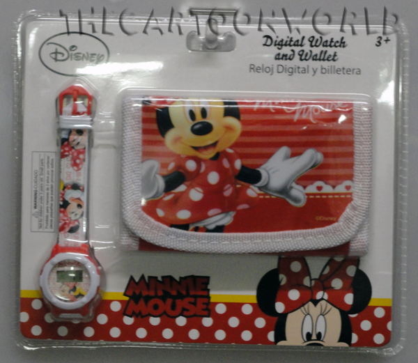 FANTASTIC SET WRIST WATCH + WALLET DISNEY - MINNIE