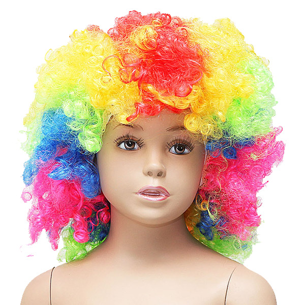 FANTASTICA PARRUCCA CLOWN MULTICOLOR BABY - FESTA A TEMA , PARTY , TRAVESTIMENTO