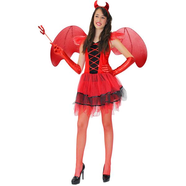 Vestiti Halloween.Dettagli Su Vestito Costume Maschera Di Carnevale Halloween Adulti Diavoletta Diavola