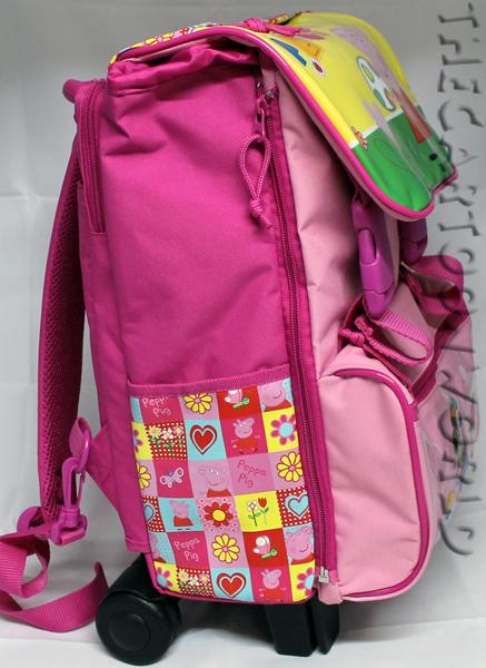ZAINO Cartella Trolley Estensibile Scuola DISNEY Peppa Pig