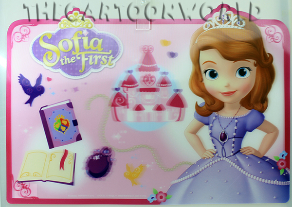 PLACEMAT PLACEHOLDER TABLE Lenticular DISNEY PRINCESS SOFIA