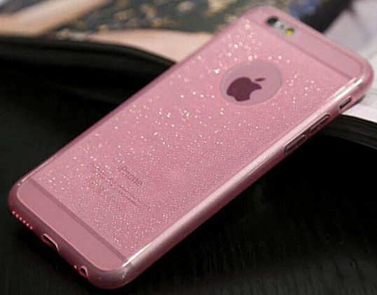 custodia iphone 6 plus nera con brillantini