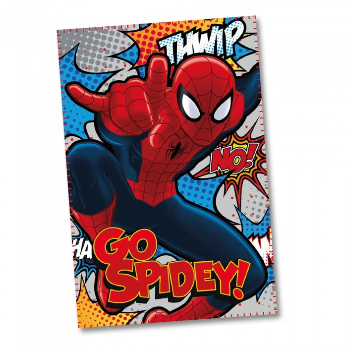 LENZUOLO PLAID COPERTA in PILE DISNEY MARVEL SPIDERMAN - 100x150 cm