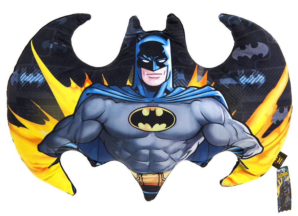 CUSCINO IN PELUCHE BATMAN - 48 x 30 cm