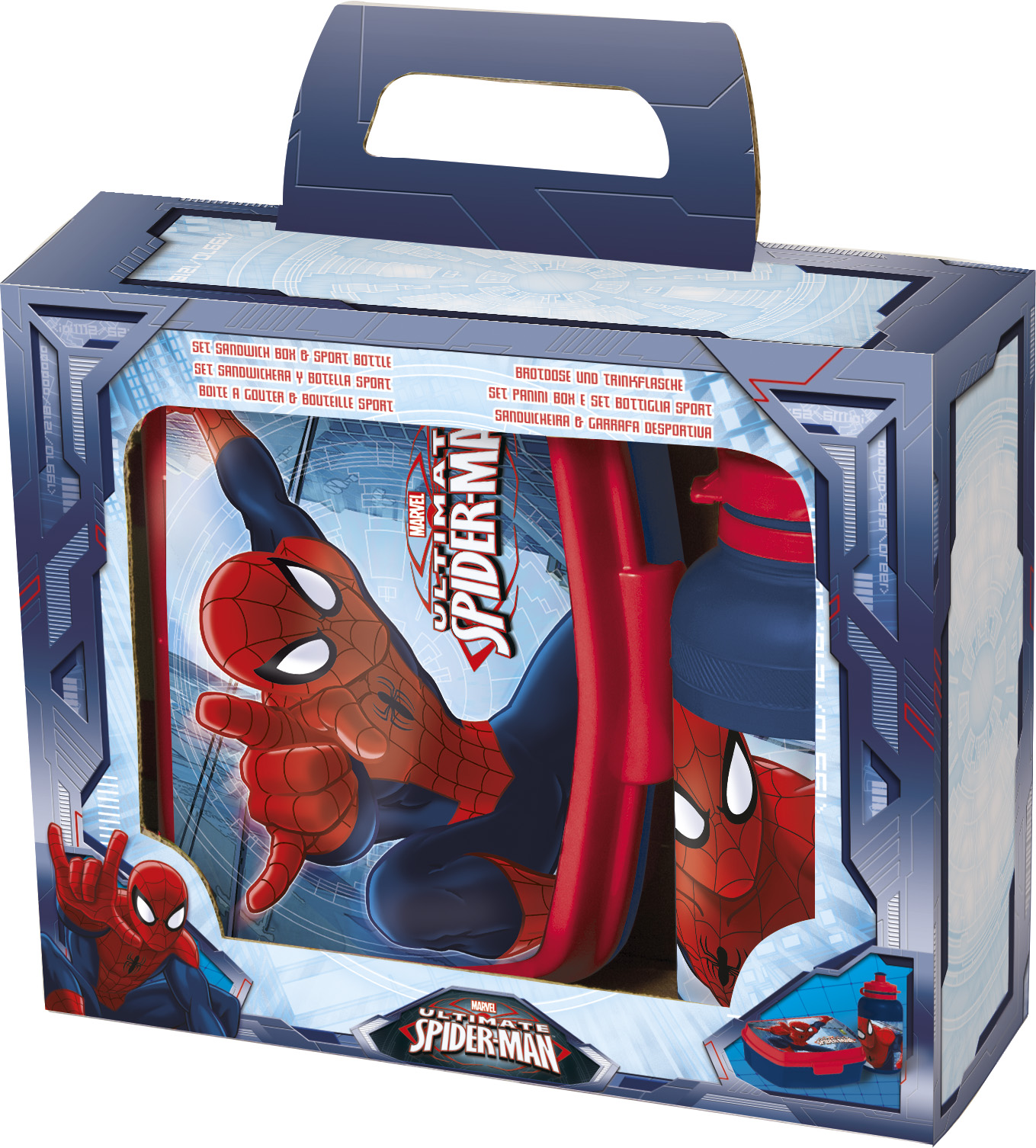 Portamerenda con BORRACCIA in Plastica - DISNEY MARVEL SPIDERMAN