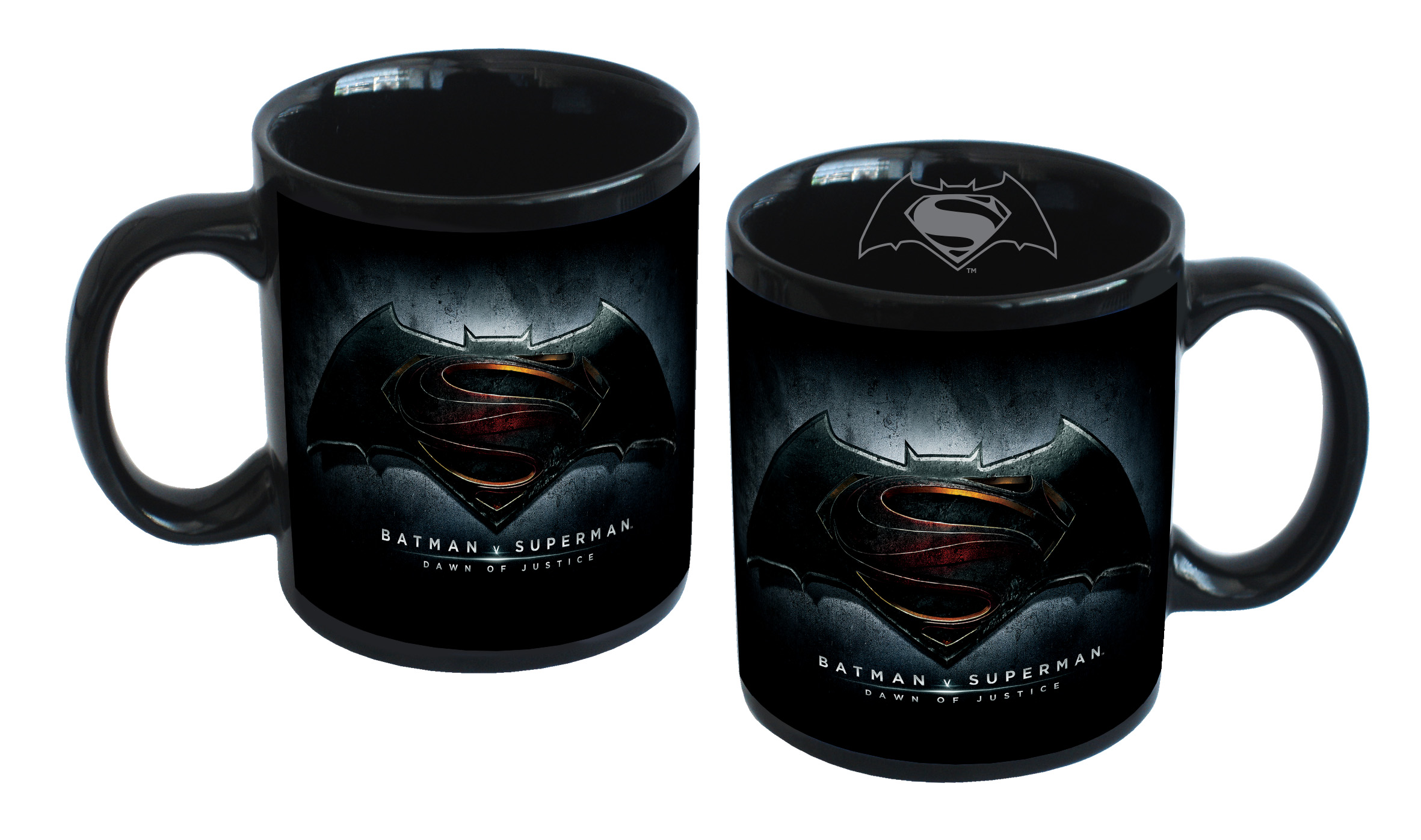 TAZZA in CERAMICA 3D DISNEY - SUPERMAN vs BATMAN - da 320 ML