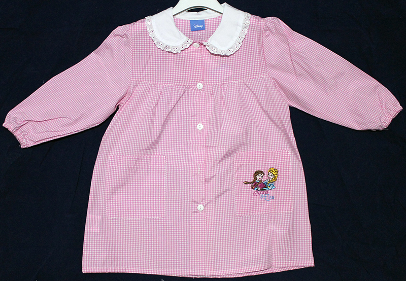 Grembiuli Asilo A Quadretti.Details About Kindergarten Asylum Apron Gingham White Pink Disney Frozen Elsa And Anna Show Original Title