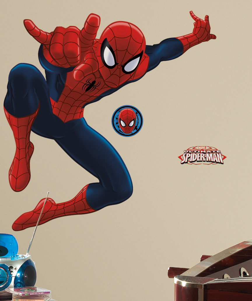 Decorazione Murale ADESIVA in PVC Disney MARVEL SPIDERMAN, gigante