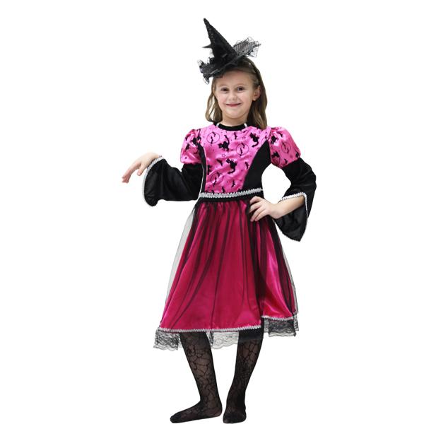 VESTITO COSTUME Maschera di CARNEVALE Halloween - STREGA Fuxia c0505413fb5d