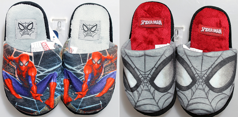 PANTOFOLE in PELUCHE DISNEY MARVEL SPIDERMAN dal nr 27 al nr 34