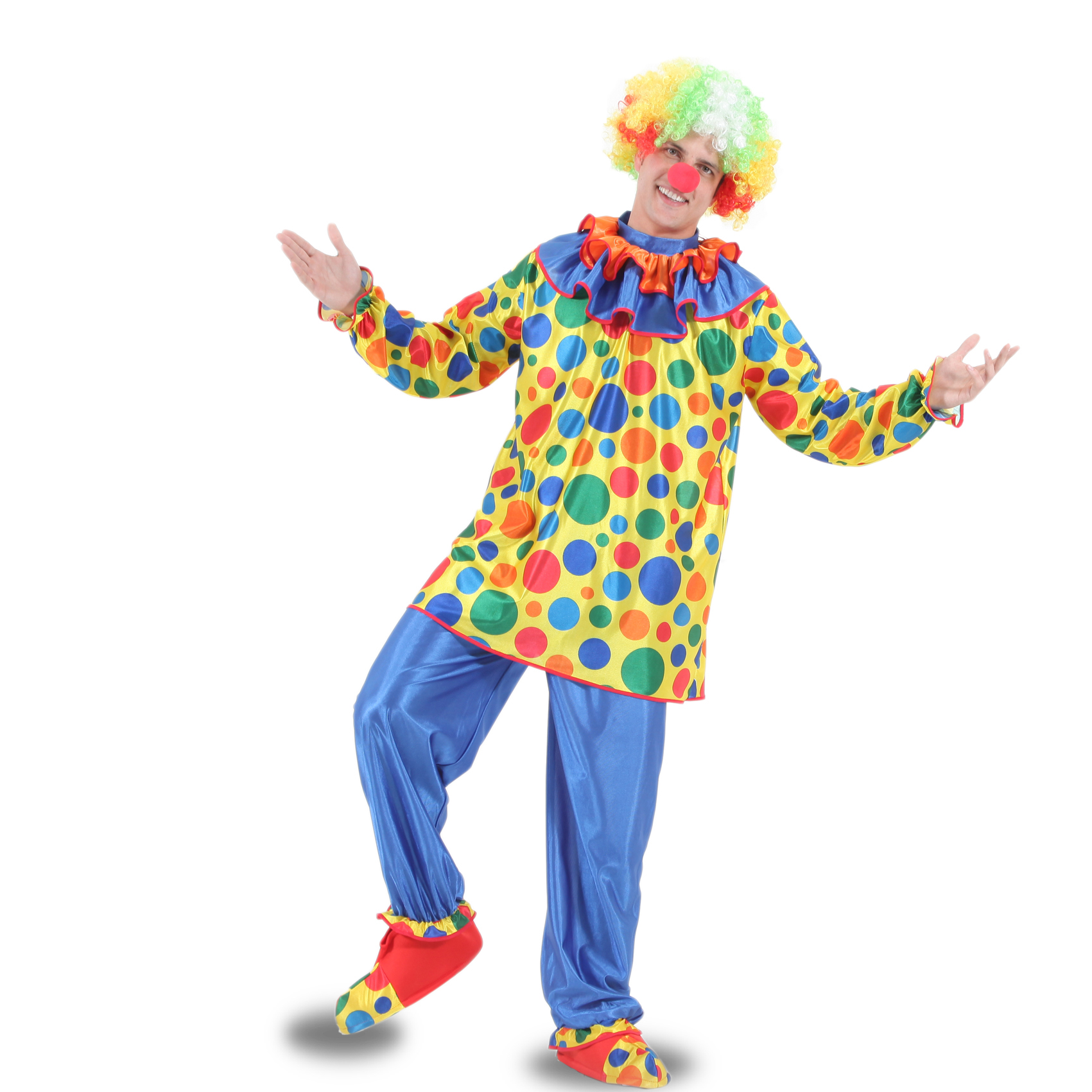 Vestito Costume Maschera Di Carnevale Adulti Pagliaccio Ebay