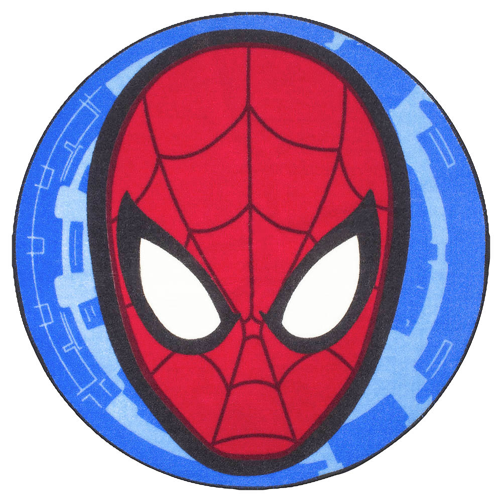 TAPPETO SAGOMATO Antiscivolo DISNEY MARVEL - SPIDERMAN a cerchio 74 x 74 cm