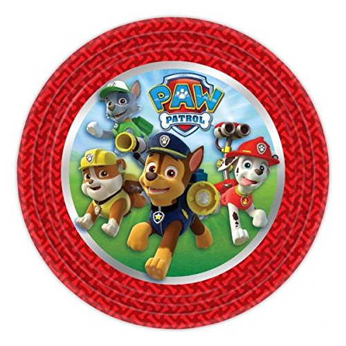 DECORATIONS Birthday Party 8 Plates PAW PATROL