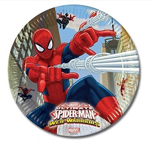 DECORATIONS Birthday Party 8 Plates MARVEL SPIDERMAN