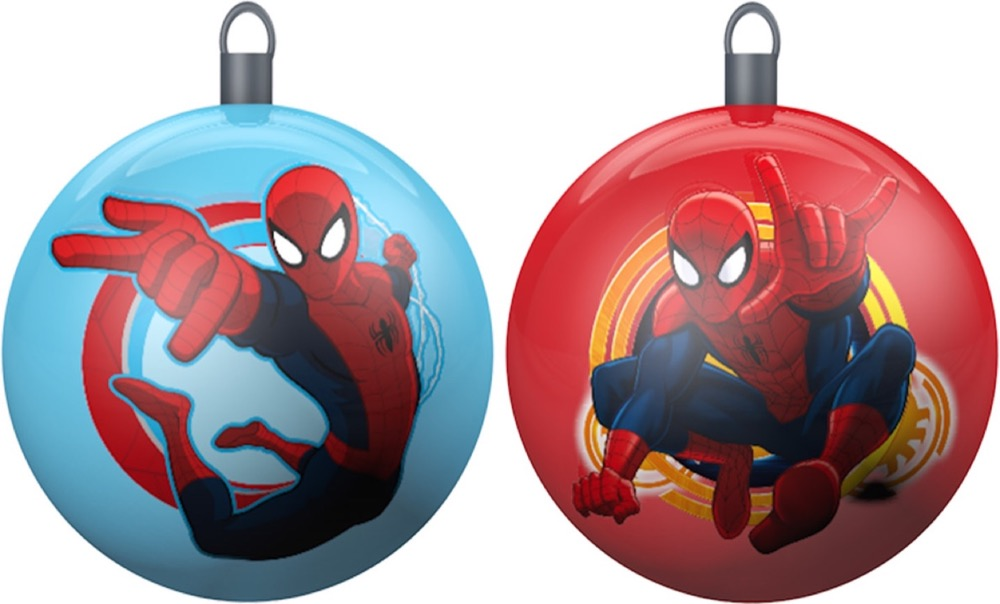 BALLS BALLS for CHRISTMAS Tree DISNEY MARVEL SPIDERMAN - 2 Pieces-10 Cm