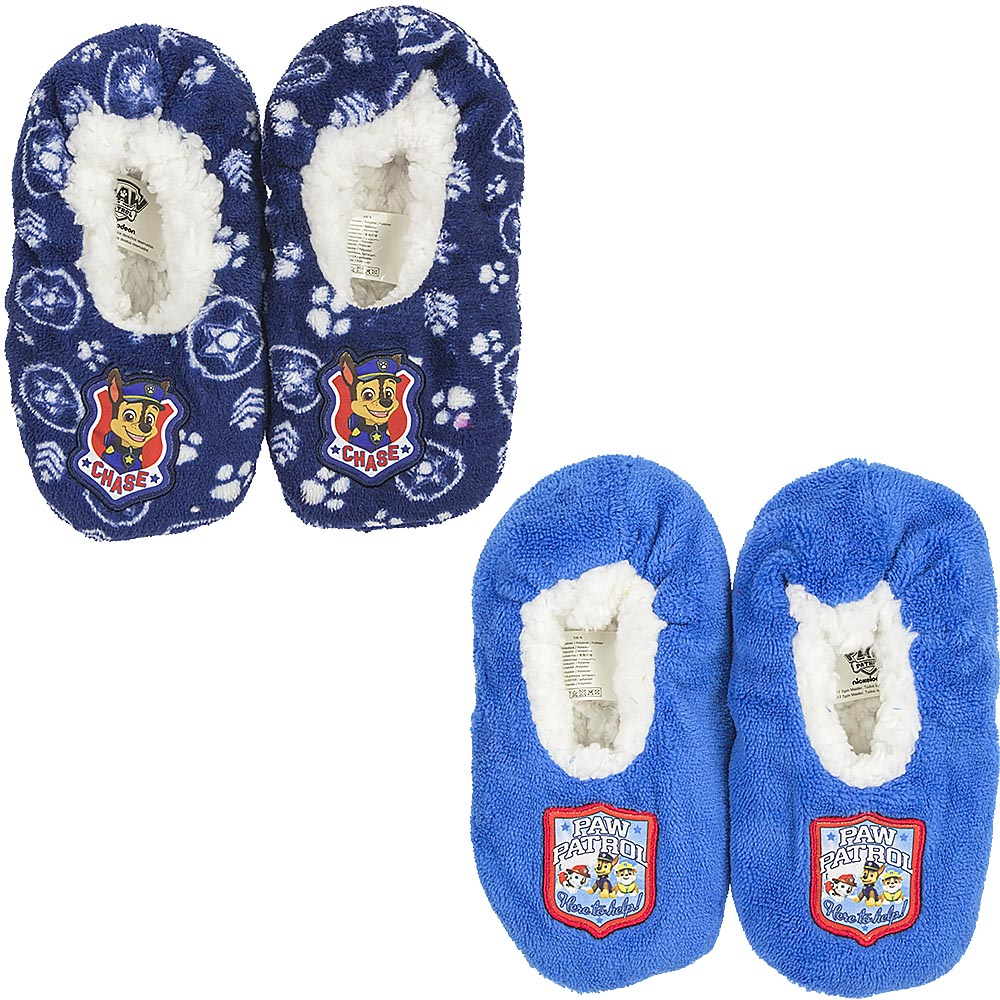 SLIPPERS CLOSED, non-SLIP PLUSH DISNEY PAW PATROL FROM no. 25 to 32