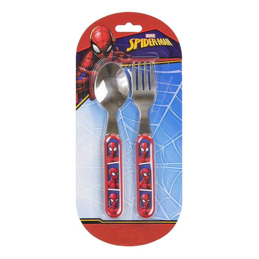 SET PAPPA Posate Melanina e Inox DISNEY MARVEL - SPIDERMAN