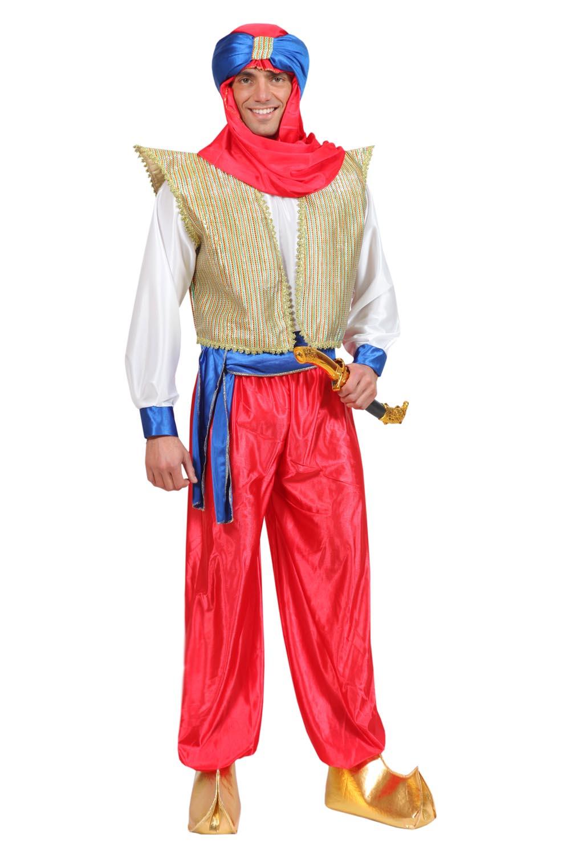 a26609e33f63 VESTITO COSTUME Maschera di CARNEVALE - ALADINO adulti