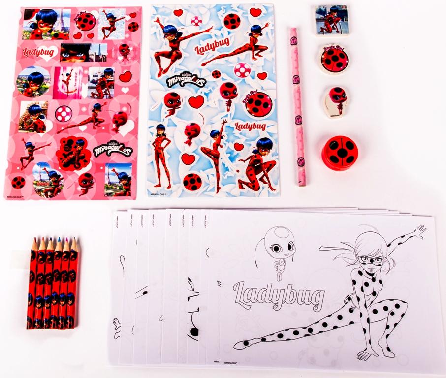 Scatola In Latta Con Accessori Per Colorare Miraculous Ladybug
