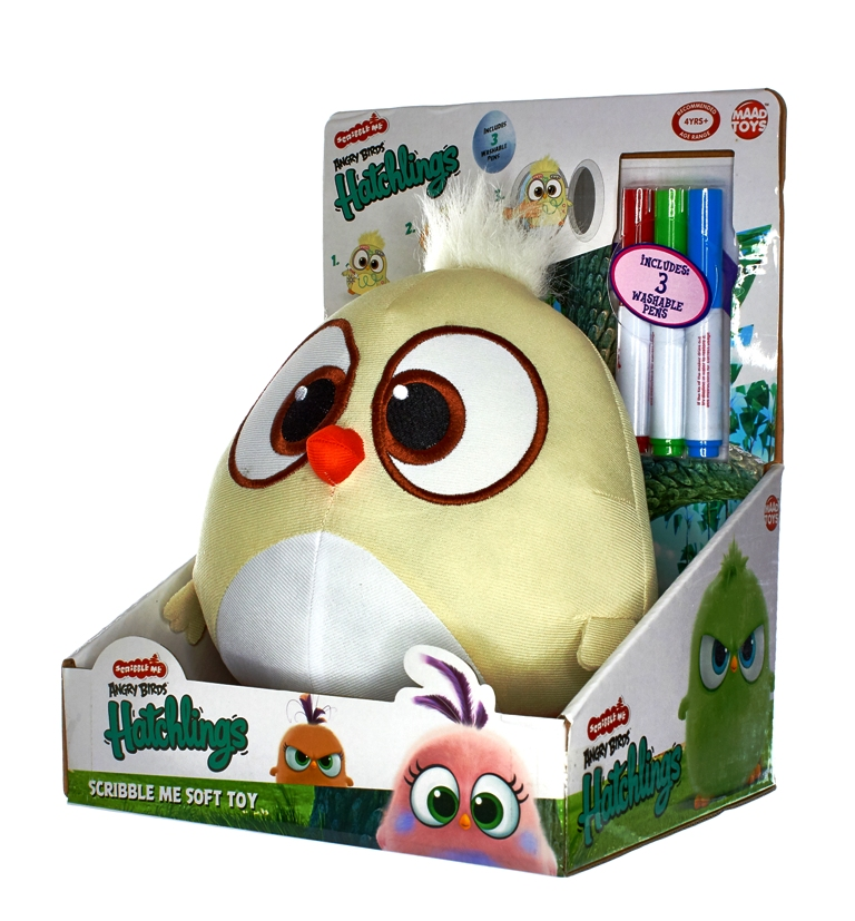 PELUCHE ANGRY BIRDS Hatchlings Scribble - 20 cm A
