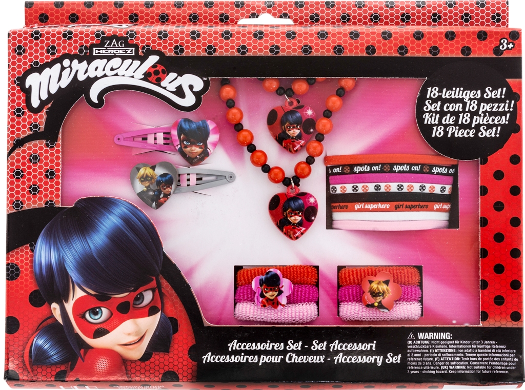 Fantastico set Accessori - MIRACULOUS LADYBUG - 18 pezzi
