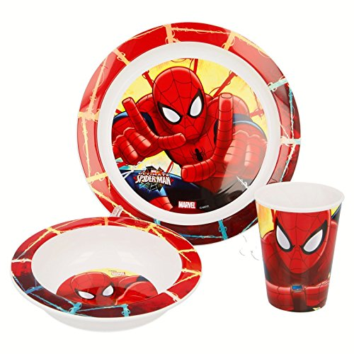 SET MEAL - Dishes and Glass MARVEL SPIDERMAN