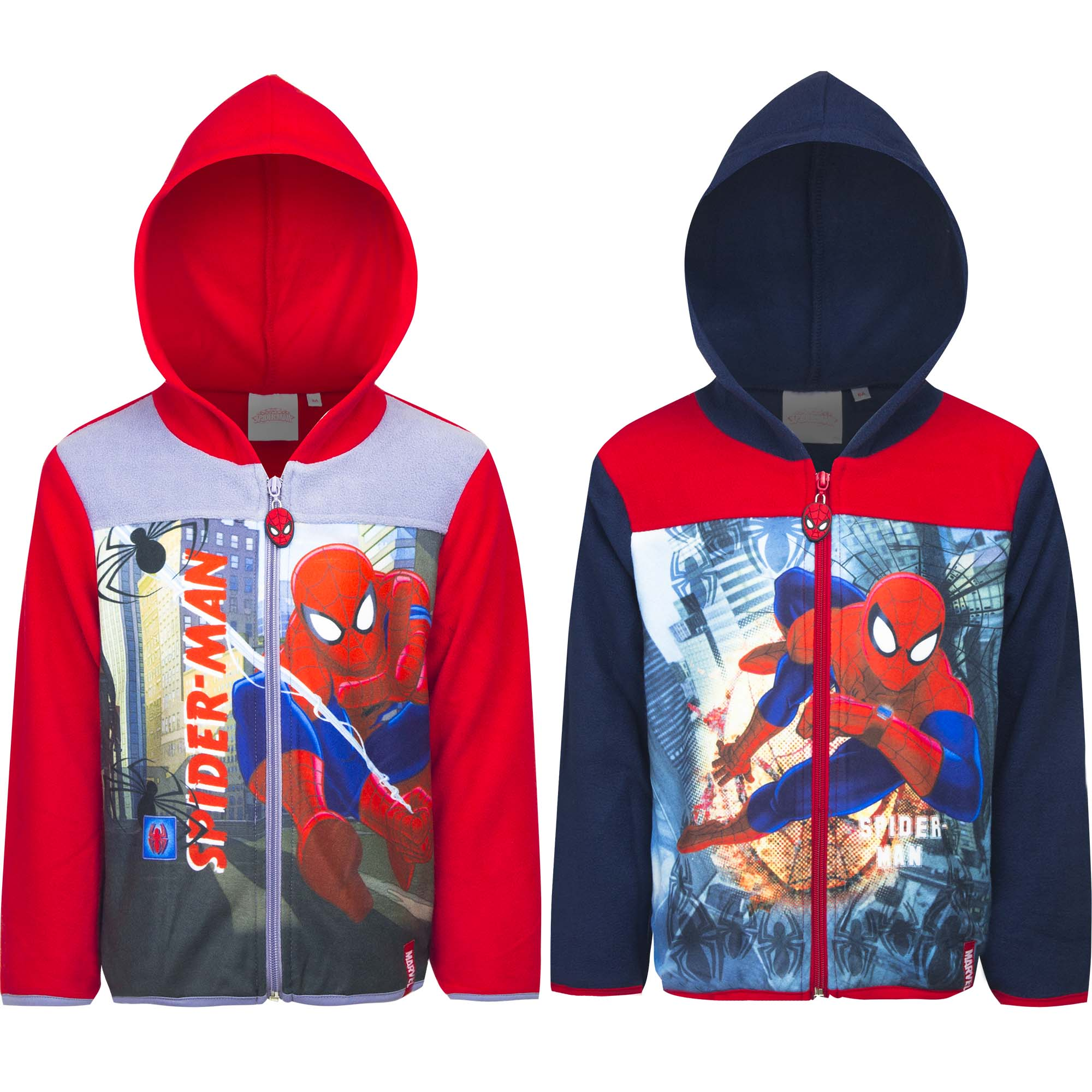 FELPA con Zip e Cappuccio  - DISNEY MARVEL SPIDERMAN - 3, 4, 6, 8 anni