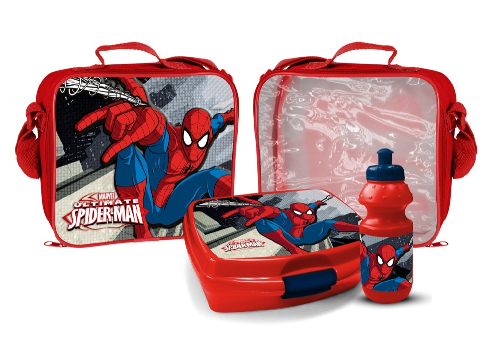 BORSA TERMICA con BORRACCIA e PORTAMERENDA - MARVEL SPIDERMAN