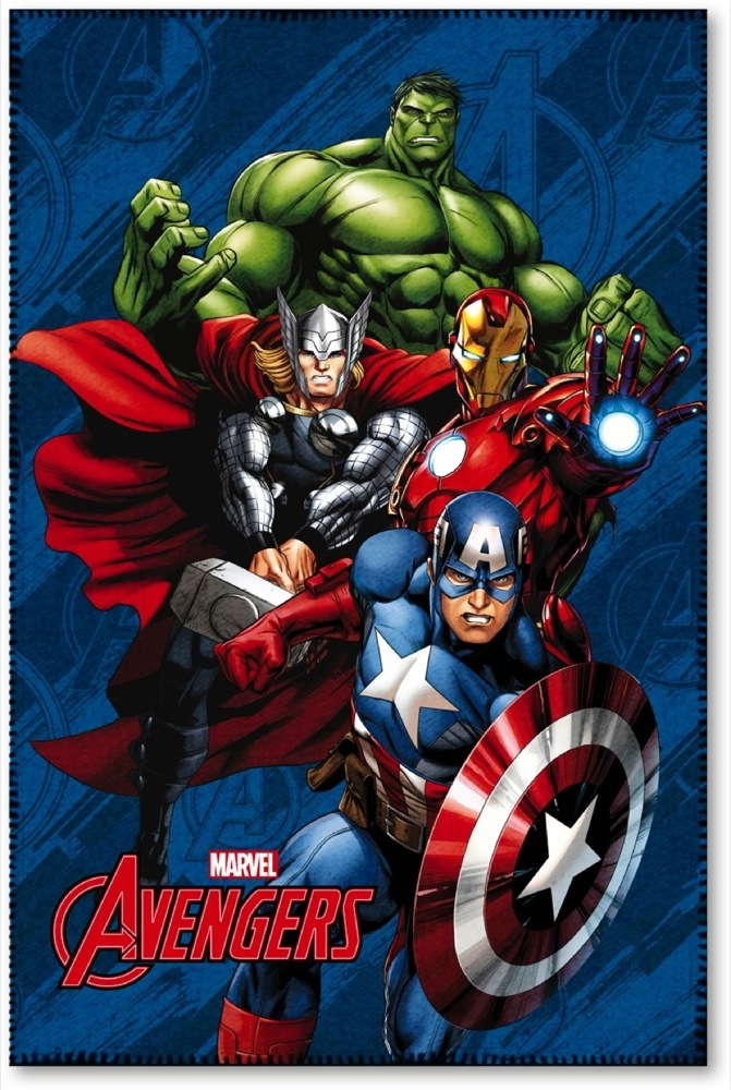 LENZUOLO PLAID COPERTA in PILE MARVEL AVENGERS - 100x150 cm
