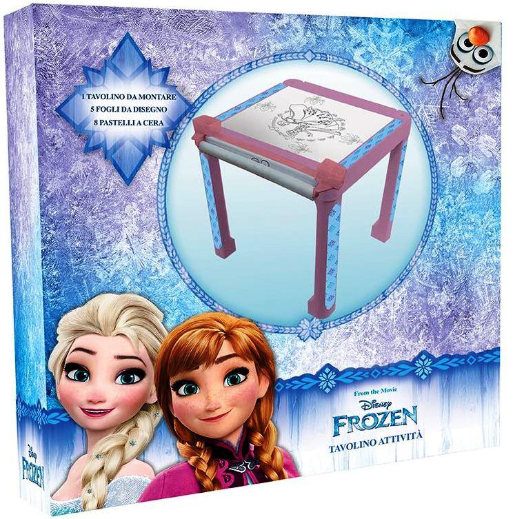 Tavolino Attivita Con Immagini Da Colorare E Colori Disney Frozen