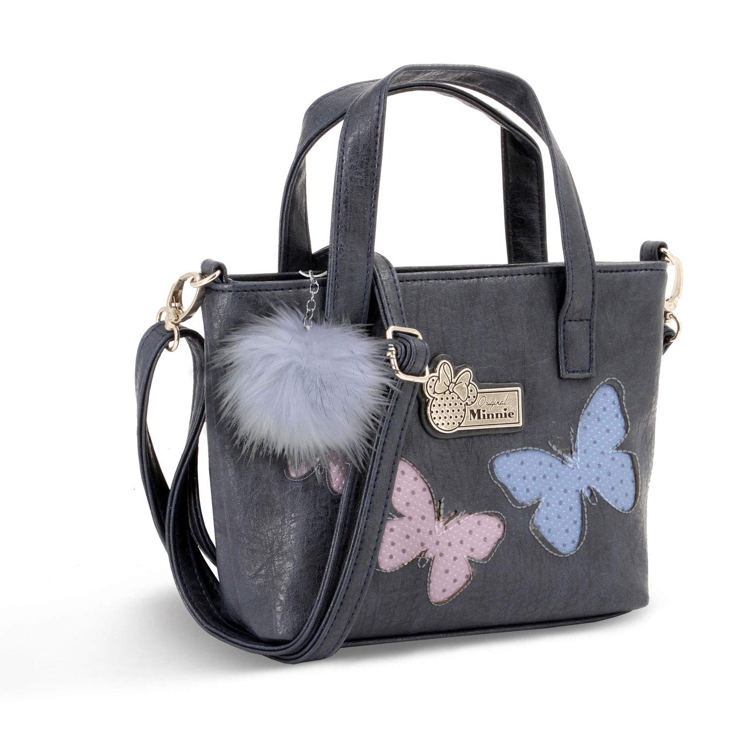BORSA A MANO Messenger - in ECOPELLE - Disney Minnie Blufy