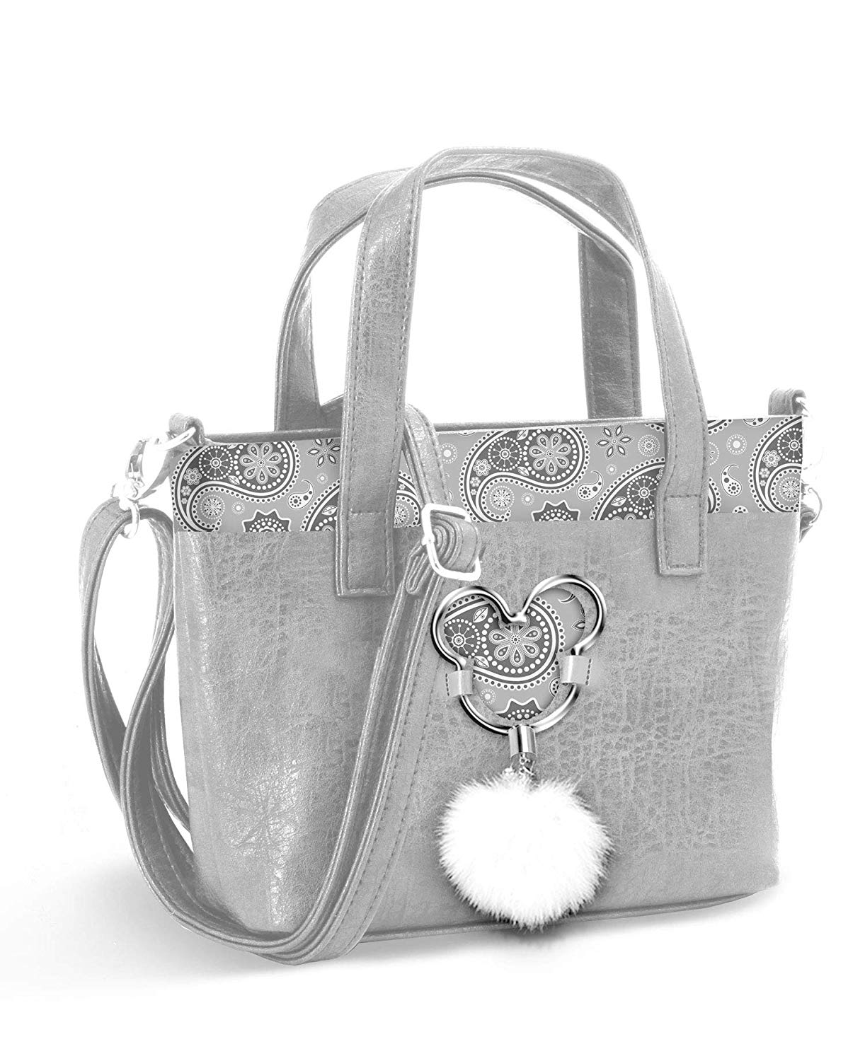BORSA A MANO Messenger - in ECOPELLE - Disney MICKEY   Paisgrey