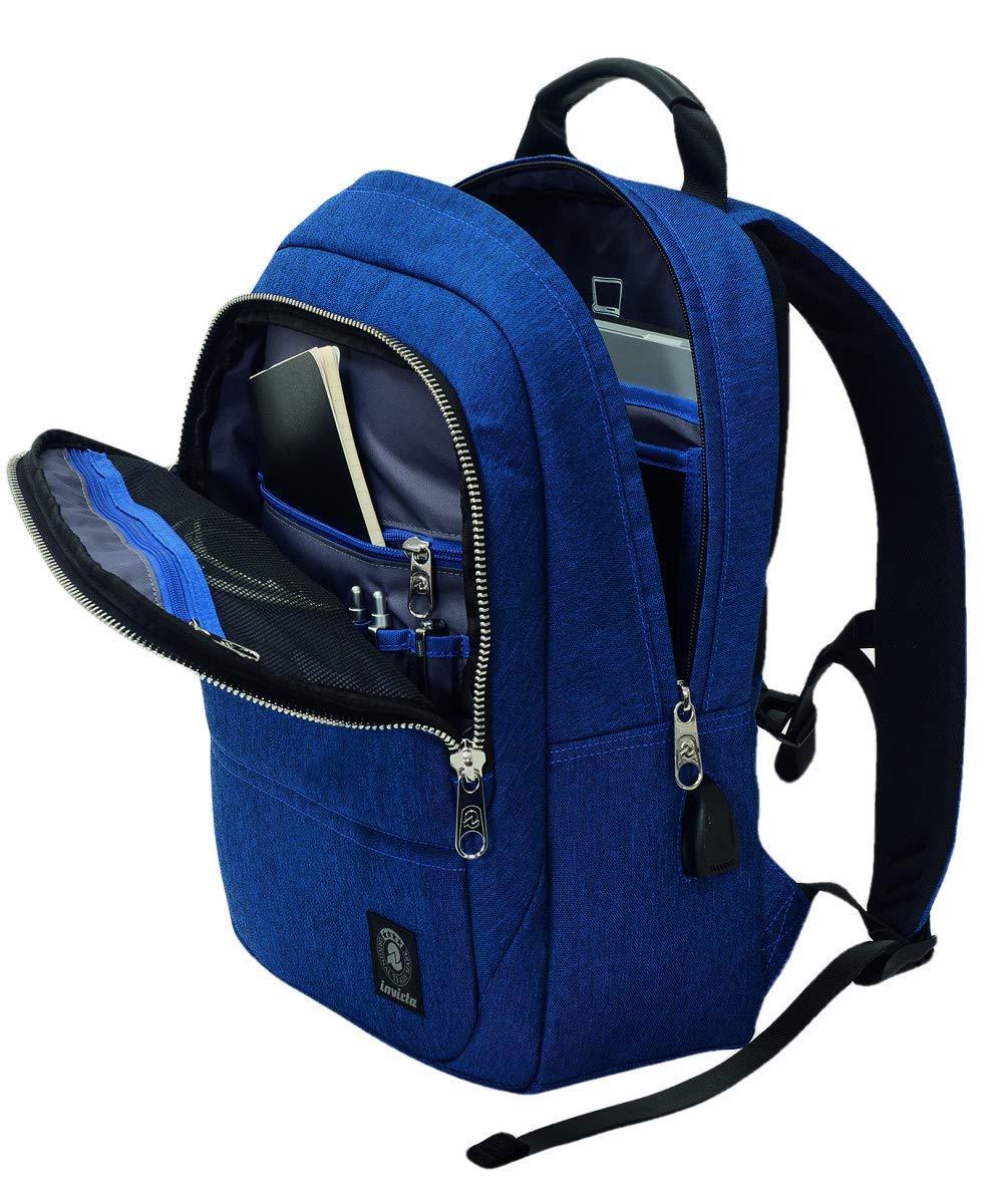 2ff7bb421f ... ZAINO BORSA LAVORO INVICTA OFFICE BIZ BLU - tasca porta pc - 20 LT ...