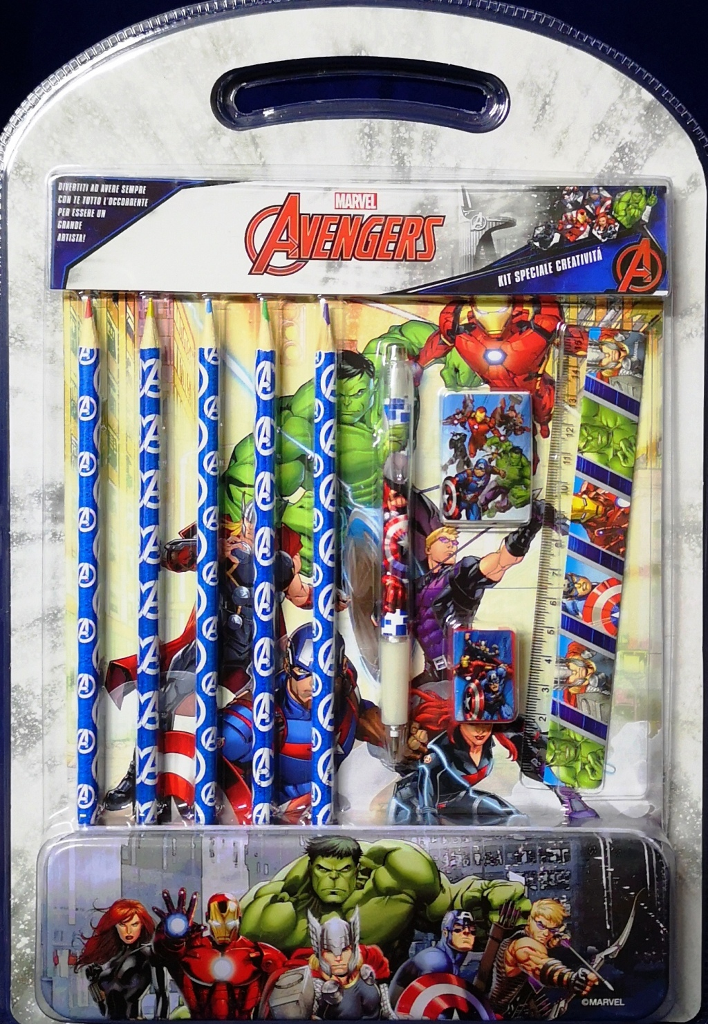 SET CANCELLERIA Creativita' 11 pezzi - MARVEL AVENGERS