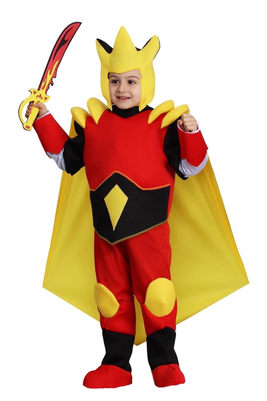 VESTITO COSTUME Maschera di CARNEVALE Bambino - Cavaliere del fuoco cd75872802f6