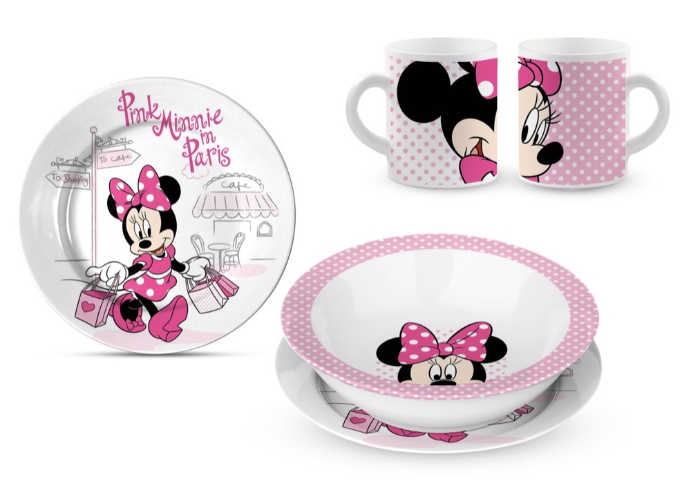 SET PAPPA in CERAMICA - Piatti e Tazza DISNEY MINNIE