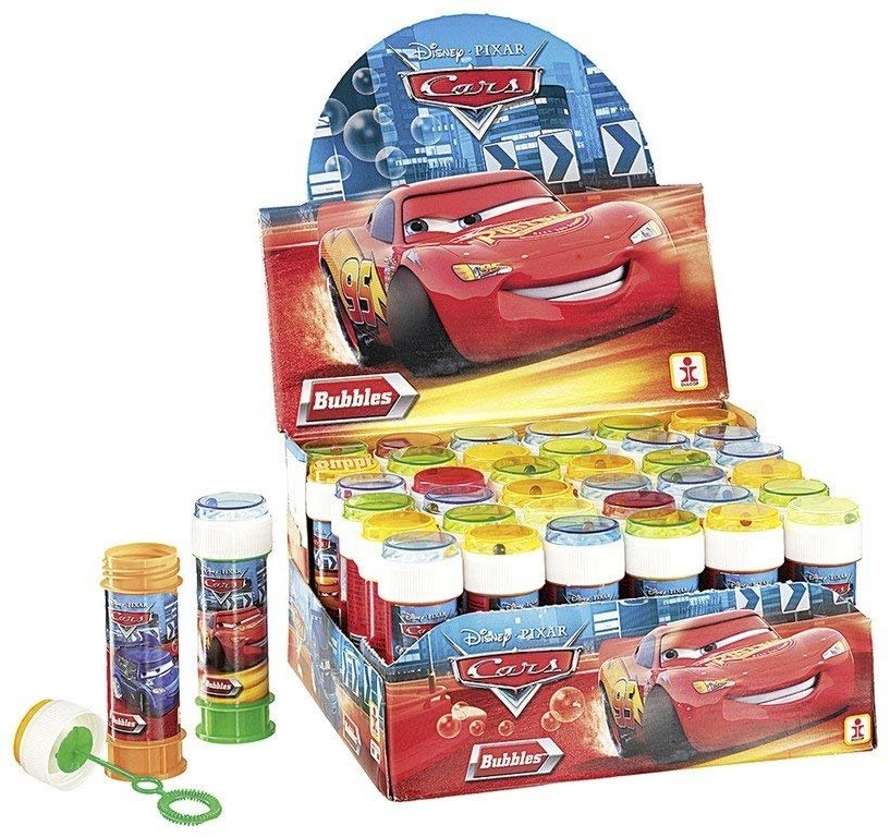 36 Bolle di Sapone Disney Cars, Multicolore, 60 mL