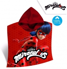 PONCHO ACCAPPATOIO TELO MARE MIRACULOUS - LADYBUG