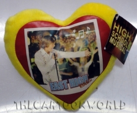 PELUCHE CUSCINO CUORE DISNEY HSM HIGH SCHOOL MUSICAL - giallo