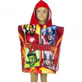 PONCHO ACCAPPATOIO TELO MARE DISNEY Marvel AVENGERS rosso
