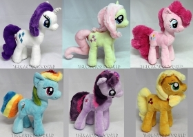 PELUCHE DISNEY MY LITTLE PONY Rainbow Dash Applejack  Twilight Sparkle Pinkie 30