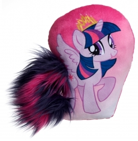 PELUCHE Cuscino con Coda MY LITTLE PONY TWILIGHT SPARKLE - 30 cm